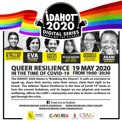 "IDAHOT2020 Webinar ""Queer Resilience in the time of Covid-19"""